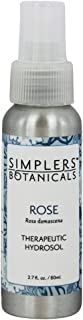 Living Flower Essences Simplers Botanicals Rose Hydrosol, 2.7 Fluid Ounce