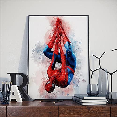 WLLLO Affiche toile Spiderman, image street art dans le salon, décoration de la maison, Sans cadre 50 * 70cm