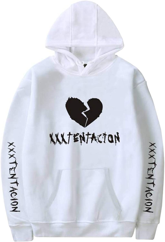 Imilan Unisex Hoodie with Xxxtentacion Sad Heart Print Graphic Hooded Sweatshirt