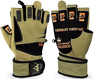 Crown Gear Weightlifting Gloves for Crossfit Workout Training - Fitness Gym Bodybuilding Gloves for Men or Women - Best for Heavy Weight Lifting Exercise Integrated W. Full Wrist Support Wraps