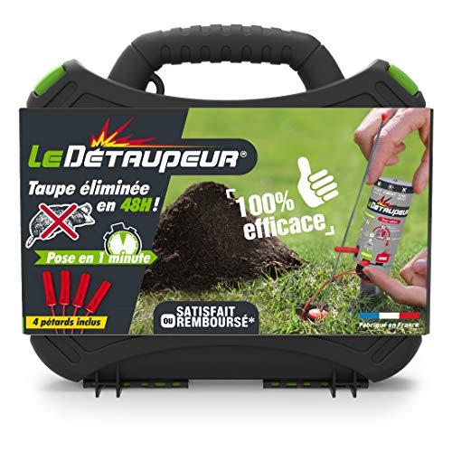 DETAUPEUR Kit Complet Valisette + 4 Recharges Piege Anti Taupes et Rats Taupiers sous la Pluie | Utilisable en Toute Sécurité, Système Exclusif