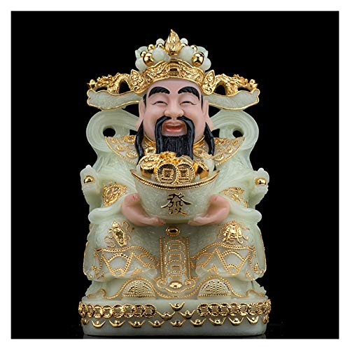 Buddha Statute Home Decor Jade God of Fortune Feng Shui Decoration Attract Wealth and Good Luck Home Decor Best Gift for Business Opening Perfect for Your Home or Office Buddha Decoration