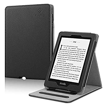 Fintie Flip Case for Kindle Paperwhite  Fits All-New 10th Generation 2018 / All Paperwhite Generations  - Slim Fit Vertical Multi-Viewing Stand Cover with Auto Sleep/Wake Black