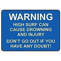 警告金属ノベルティサインアルミニウム、警告高波は溺死と傷害を引き起こす可能性があります公園の看板公園ガイド警告看板私有財産のための金属屋外危険標識