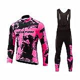 Uglyfrog Conjunto Ciclismo 2018 Nuevo Hombre Primavera/otoño 3D Cojín Pantalones Larga Malliot de Ciclismo Elástica Ropa de Ciclista Transpirable Bodies MZ08