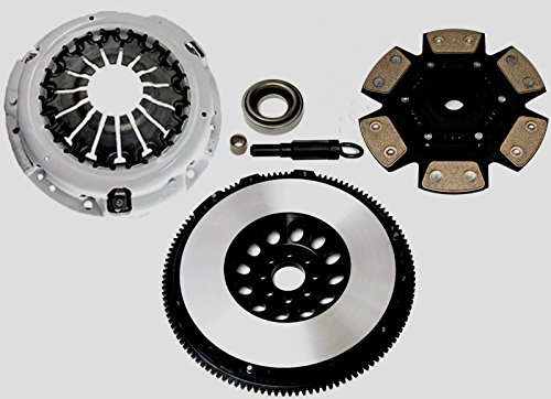 Clutch Kit Complete Racing Stage 3 & Lightened Flywheel Kit Fits 350Z G35 VQ35 Automotive Clutch Pressure Plates & Disc Sets - House Deals