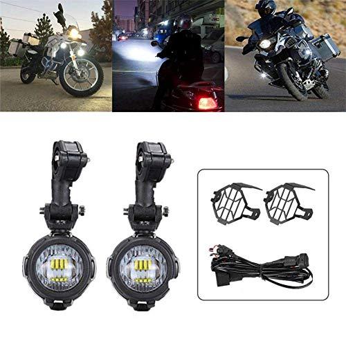 Extra koplampen voor motorfiets, 40 W, geschikt voor Enduro Moto R1200GS F800GS F850GS R1250GS G310GS F650GS F700GS F750GS