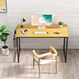 Desk is made of thick Particle board with scratch-resistant, anti-collision and waterproof, protect home office desk surface from daily wear and tear Extra fixed steel brackets and adjustable leg pads provide greater stability, ensure the desktop is ...