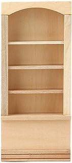 خزانة كتب خشبية من Carbinet أثاث بيت الدمى مجموعة أثاث بيت الدمى أثاث مصغر لبيت الدمى (خزانة كتب)