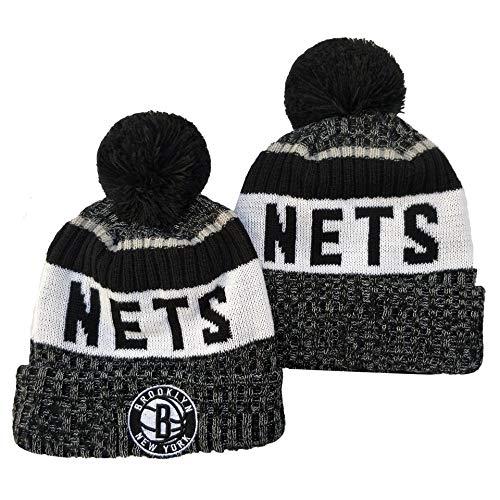 Hanbei Herren Damen Warm Gestrickte Hüte Fan Hat Nets Basketballkappen Winter Warm Gestricktemütze Outdoor Ski Pompom Cap Beanies Hat