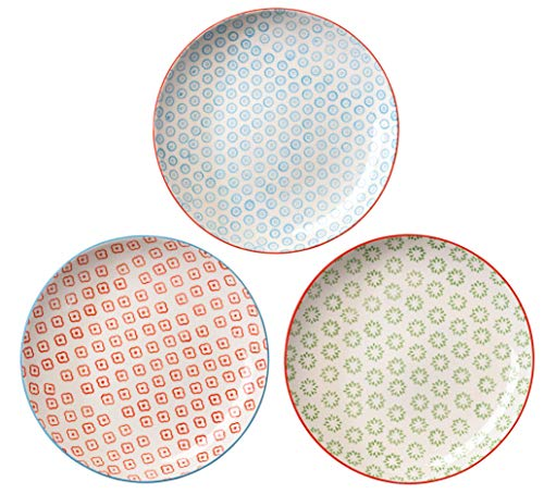 Bloomingville Dinner Plates Emma Set of 3 styles 10''