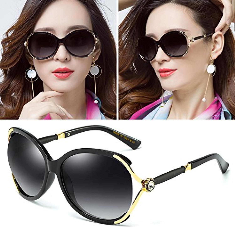 Sunyan The new Sleek high gloss sunglasses round face with stars, sunglasses female tide