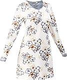 Hajo Klima Komfort Damen-Nachthemd Single-Jersey Creme/blau Größe 40/42
