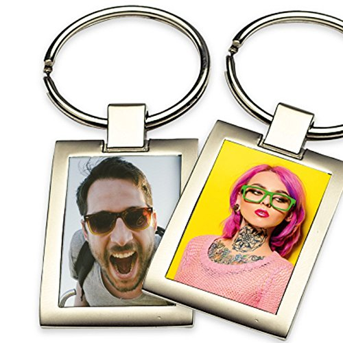 Schlüsselanhänger mit Foto Bild Motiv und Text Namen Spruch selbst gestalten und Bedrucken ✓ Für Schlüsselbund ✓ Halskette ✓ Armband ✓ Armreif
