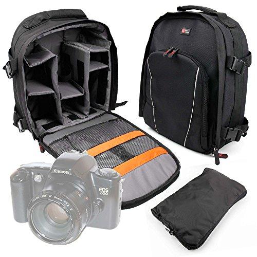 DURAGADGET Mochila para Cámara Canon 500 EOS | 5000 EOS | EOS 1000 F | EOS 80D 24.2MP | Vivitar SLR 35m V3800N Resistente Al Agua + Funda Impermeable