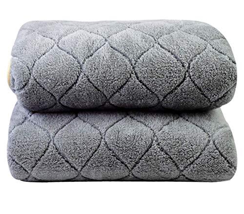 Preisvergleich Produktbild Authda Kuschelheizdecke Wärmeunterbett Abschaltautomatik Wasserdicht Flauschig Wärmedecke Heizdecken fürs Bett Timer Doppelbett Fernbedienung (180X80cm,  Gray)
