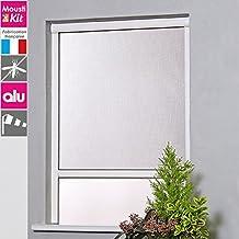 Taille:120 x 140 cm Moustiquaire pour fen/êtres greenLINE avec cadre de aluminium Sans percer et individuellemente raccourcissable Couleur:Anthracite