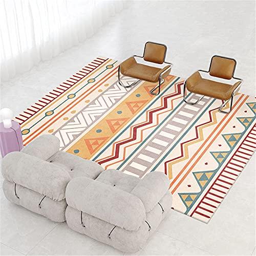 LBMTFFFFFF Alfombra para la casa, guardarropa, pequeña y fresca abstracta para el dormitorio, alfombra suave para la piel, B,80 x 160 cm
