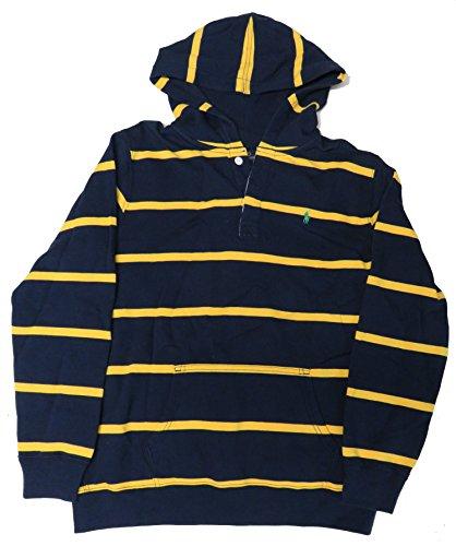 Polo Ralph Lauren Jungen Kapuzenpullover, Marineblau/Gelb/gestreift, Größe XL (18-20)