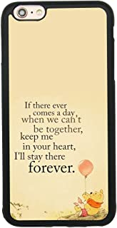 Winnie The Pooh Quote Art Case for iPhone 6 Plus/6S Plus (5.5 Inch) TPU Silicone Gel Edge + PC Bumper Case Skin Protective Printed Phone Full Protection Cover