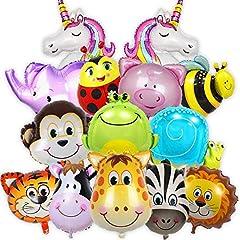 Balloono 14x Folienballons mit Tieren