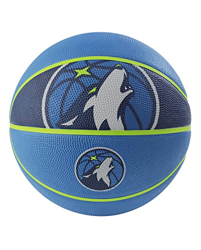Big Save! Spalding NBA Minnesota Timberwolves NBA Courtside Team Outdoor Rubber Basketballteam Logo,...