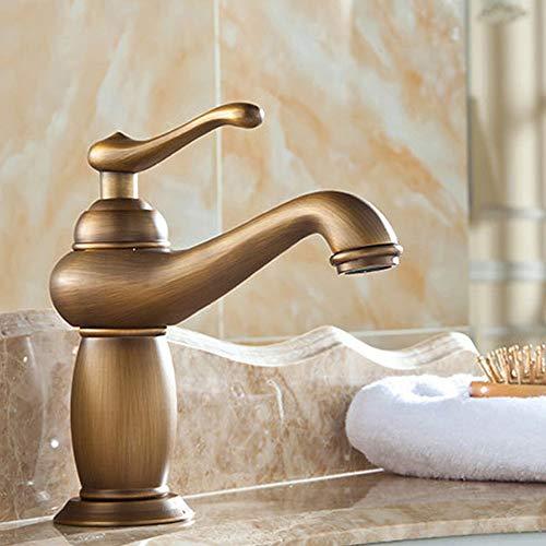 DLGGO Grifo de Lavabo de baño de Lujo Mezclador de latón de Bronce clásico Antiguo Cobre Macizo Grifo de Estilo Europeo de Lujo Torneiras para Banheiro Grifo de Agua para Cocina/Baño/Empresa/Res
