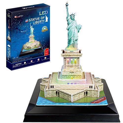 CubicFun Statue de la Liberté à New York USA LED 3D Puzzle