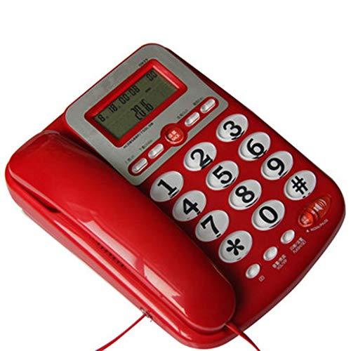 Czlsd Ruidosos botón Grande con Cable de teléfono - con Cable analógicos y DECT Teléfonos - Teléfonos con Cable - Teléfono Fijo (Color : Red)