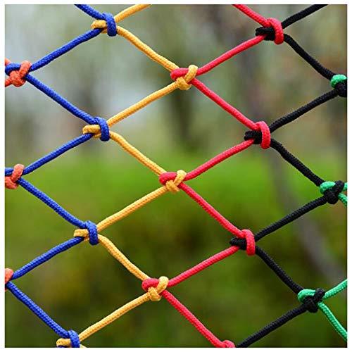 Veiligheidsnet voor kinderen netto decoratie net buiten Tuin Decoratie Net, Kinderveiligheid Netto Kleur Touw Netto Hek Netto Trappen Bescherming Netto Weven Netto Klimmen Hangmat Swing Net 2m3m4m Kan Aanpassen