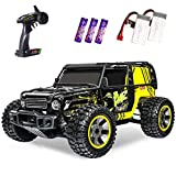 RC Cars 1:10 Scale Large High Speed Remote Control Car for Adults Kids, 48+ kmh 4WD 2.4GHz Off Road Monster Truck Toys, All Terrain Electric Vehicle Boy Gifts with 2 Batteries for 40+ Min Play