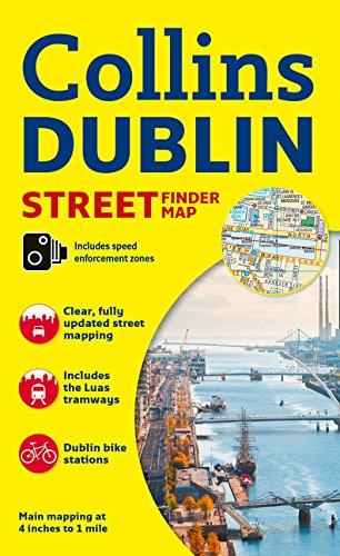 Dublin Streetfinder Map 1:16.000. Collins. [Idioma Inglés]