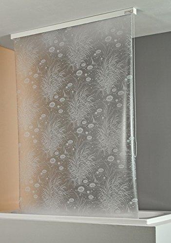 ECO-DuR,4024879001810,Ersatzvorhang Kassetten Duschrollo Seitenzug 134cm - Seerose weiß