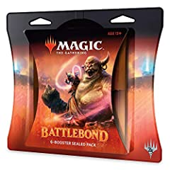 Battlebond Battle Packs are FACTORY SEALED with six Battlebond booster packs. In the arena of Valor's Reach, competitors battle in pairs. RECRUIT A TEAMMATE TO BOOSTER DRAFT with 2–3 Battle Packs and 6–8 players Some Battlebond cards PARTNER WITH eac...