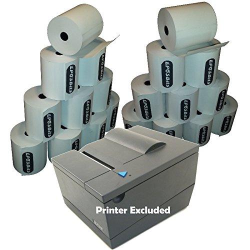 eposbits® merk Beleg printerrollen voor Toshiba SureMark 4610-tf6 4610 TF6 Epos printer? 20 rollen.