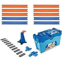 Hot Wheels- Track Builder, Caja Multiloopings, accesorios para pistas, Acrobacias, Multicolor (Mattel FLK90)