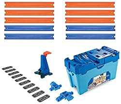 Age: six plus Connect hot wheels sets to create hot wheels city, fuel hours of storytelling and imaginative play with a world full of connectible and themed playsets Ultimate storage and ideal solution with ten feet of track, it is portable, too Co...