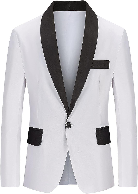 Tuxedo Jacket Casual Business Coat Suit Sport Coats Slim Fit One Button Lightweight Blazer Jackets