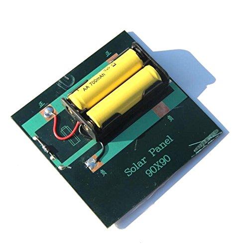 REFURBISHHOUSE 1W 4V Cargador Solar Recargable de la celula de la bateria AA con la Base para Las baterias 2xAA Que cargan Directamente