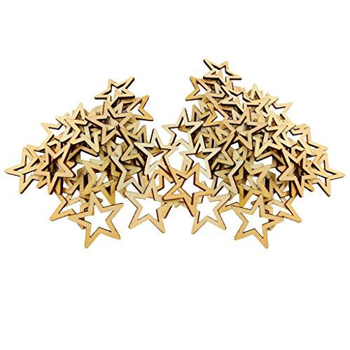 harayaa 80 Piezas de Adornos de Monedas en Forma de Estrella Hueca para