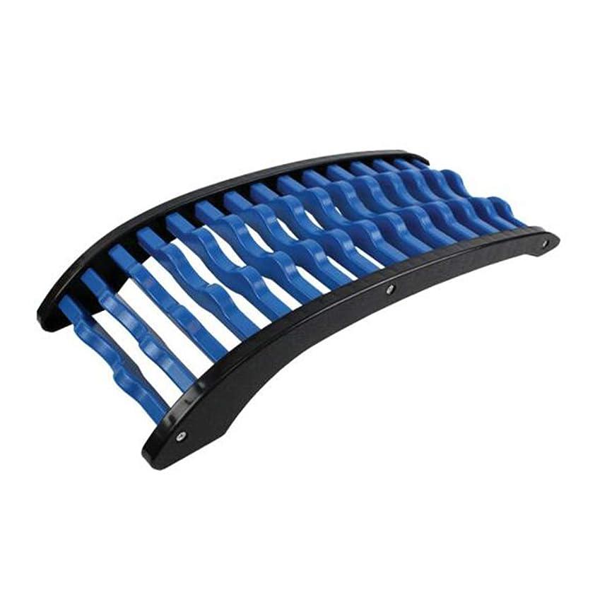 ラインナップ宙返りカール腰椎矯正、バックマッサージャー腰椎サポートストレッチャー脊椎の痛みを和らげる背中の痛み筋肉痛の軽減,Blue