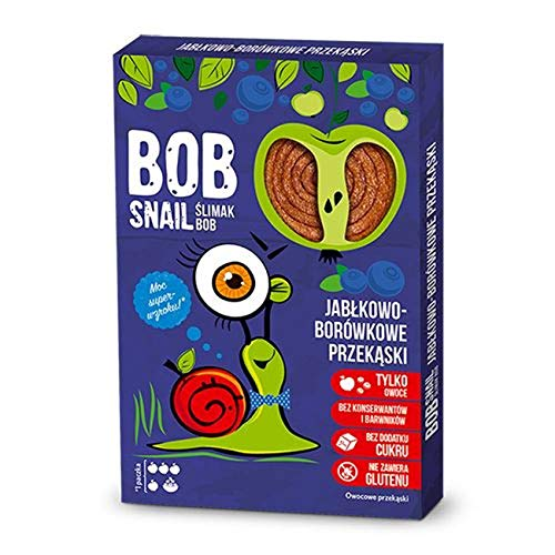 3 x Bob Snail - Apple-Blueberry Fruit Sweets 60g