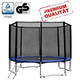 Baunsal GmbH & Co.KG Gartentrampolin Trampolin 305 bis 310 cm in blau mit Sicherheitsnetz und...