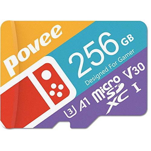 256GB Micro SD Card for Nintendo Switch, U3 MicroSDXC V30 Memory Card for Gopro Hero 7 Hero 8 Android Smartphone Digital Camera Tablet and DJI Drone,TF Card with Adapter