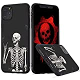 LuGeKe Skeleton Phone Case Cover for iPhone 7 Plus/iPhone 8 Plus Smile Skull Printed Phone Cover Shell Frame for iPhone Anti-Scratch and Comfortable(Gothic Skeleton)
