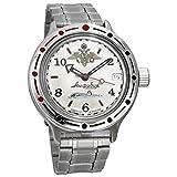 Vostok Amphibia 420392 - Reloj de buceo ruso para hombre (200 m, correa de acero inoxidable)