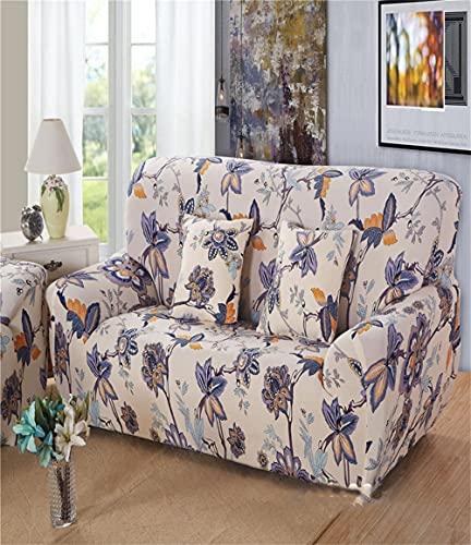 TXSA Fodera per divano 1/2/3/4 posti fodera per divano elasticizzato morbido elasticizzato classico americano Allungabile Universale Fodera per Divano,4 persona 235-300CM