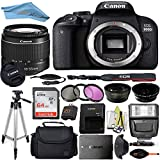 Canon EOS T7I/800D DSLR Camera with 18-55mm Lens + Professional Accessory ZeeTech Bundle (Professional Bundle + 64GB)