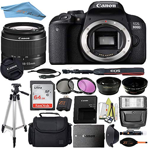 Canon EOS T7I/800D DSLR Camera with 18-55mm Lens +...