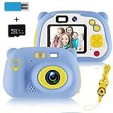 MOREASE Appareil Photo Enfant,HD 1500 mégapixels/1080P Caméra Enfant Numérique Selfie Machine...